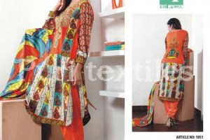 Puri Textiles Latest Embroidered Winter Dresses 2014 For Women (1)