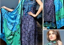 Classic Stylish Outfits Dawood Eid Lawn Vol-II Selection 2014 (8)