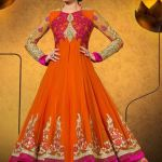 Party Wear Georgette Dresses Collection 2014 5
