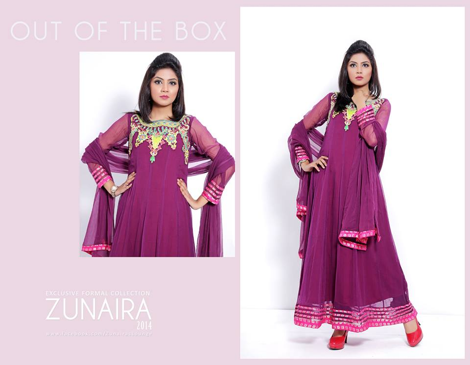 Zunaira's Lounge  Party Wear Dress Collection 2014 6