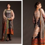 Fahad Hussayn Couture Printed Mid Summer Dresses Collection 2014 5