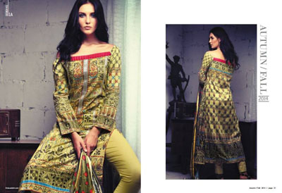 Firdous Cambric Collection 2014-15 For Girls  10