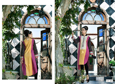Rabea Kurti Collection 2014-15 By Shariq Textile 5
