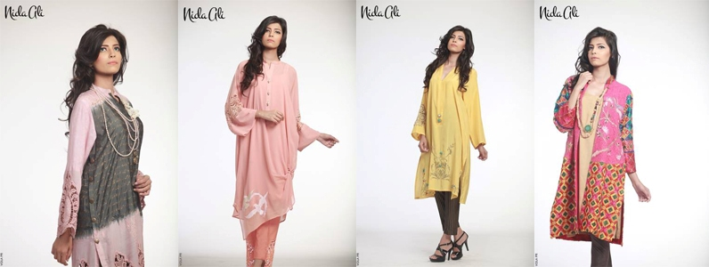 Nida Ali Summer Double shirt Suit made with lawn