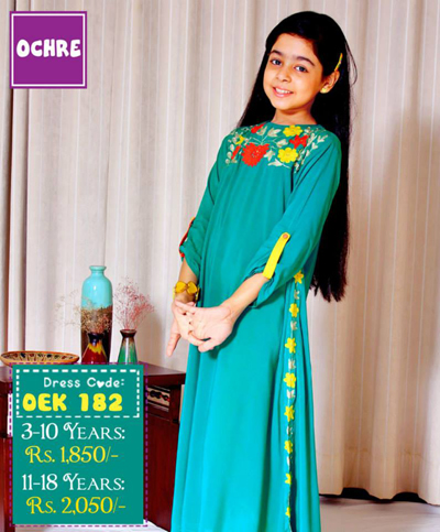 Ochre clothing teen age young girls eid dresses 2015 3