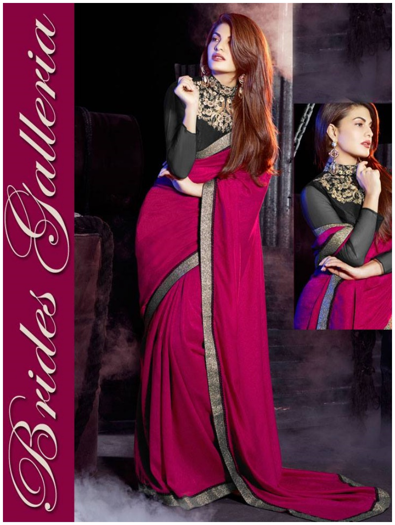 Bollywood Actress Jacqueline Fernandez Amazing Sarees 2015 (1)