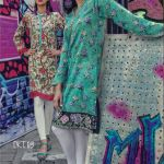 Digital Printed stitched tunic with button embellishmen by Marib B
