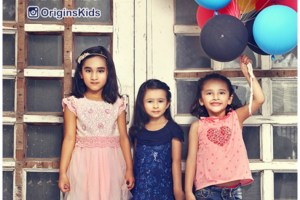 Kids wear lehnga design by Origins Kids
