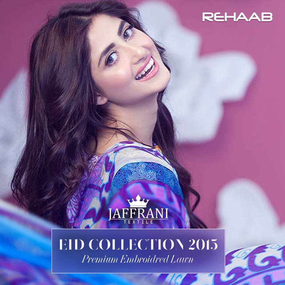 Rehaab Embroidered Lawn Eid Collection 2015 For women