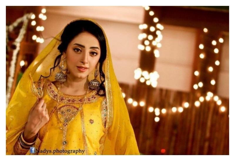 Sanam Chauhdry Mayoon Mehndi Pictures