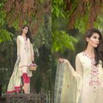 So Kamal Embroidered Chiffon Fall winter 2015 Dress