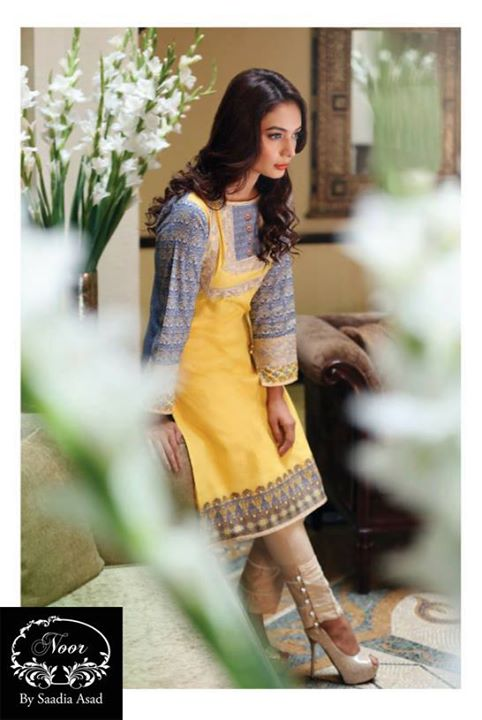 Saadia Asad Digital Winter Kurti Fashion for women (2)