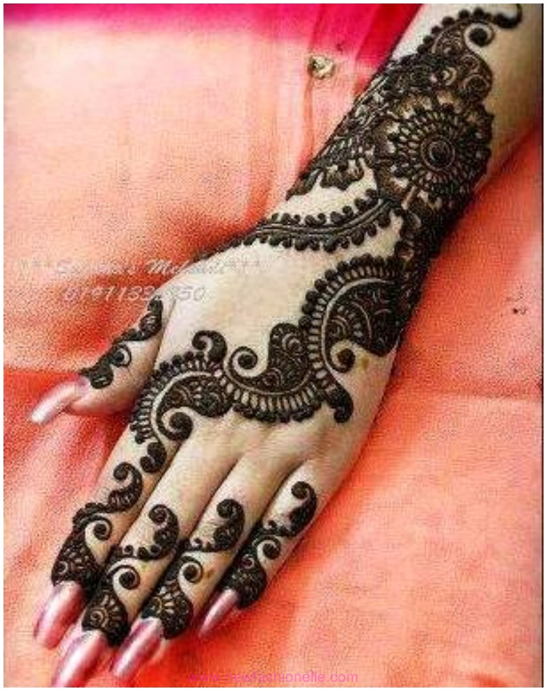 Mehndi Fingers Design : Finger mehndi designs for brides