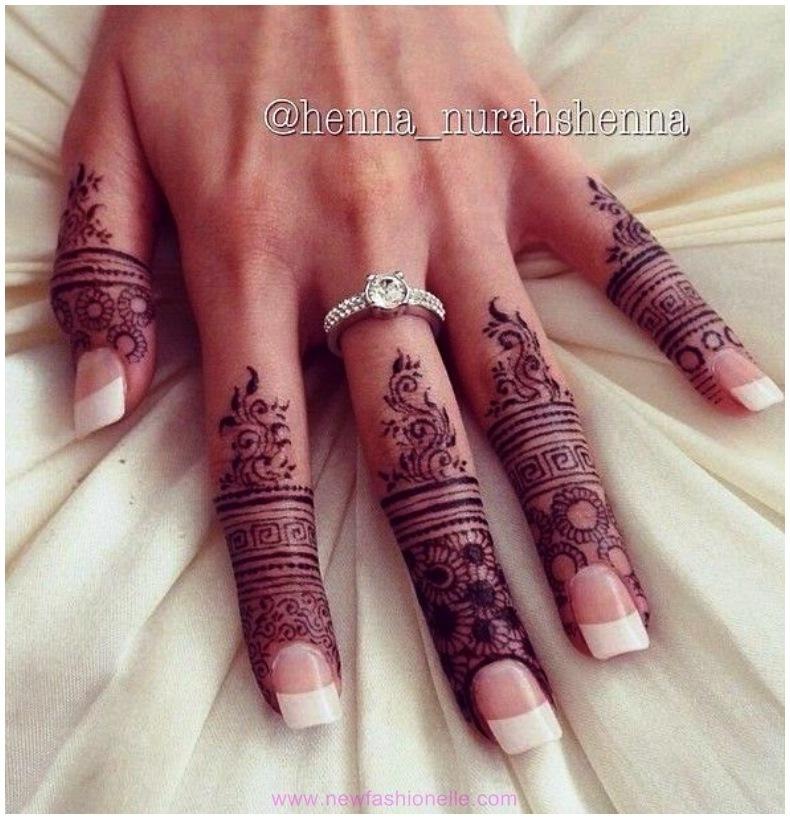 Mehndi Fingers Rating : Finger mehndi designs for brides