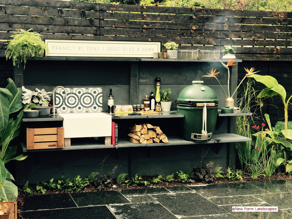 Flat Pack Outdoor Kitchen Landscape Garden Design In St Albans Hertfordshire Outdoor Kitchens