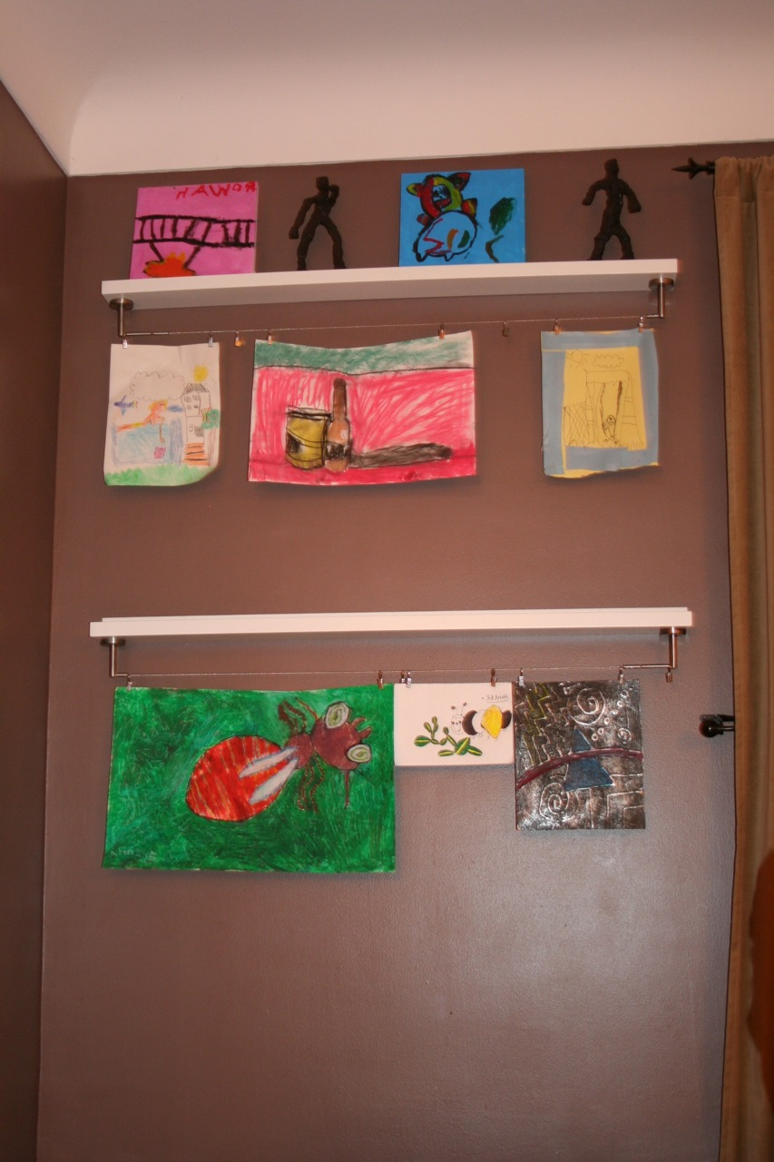 Home Project Kids Art Display Center The New Home