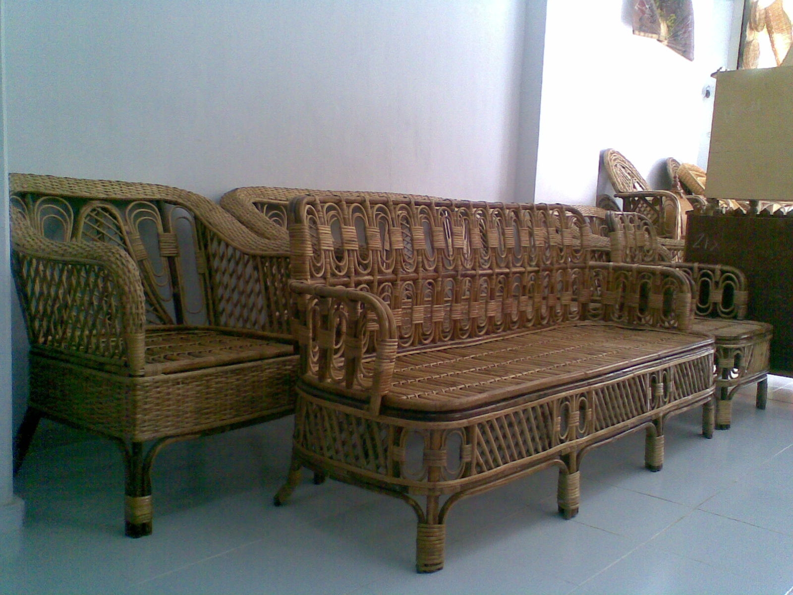 Sofa Set Furniture Diwan Cane Sofa Set Center Tipoy Cane Swings Dining Table Cane Chair