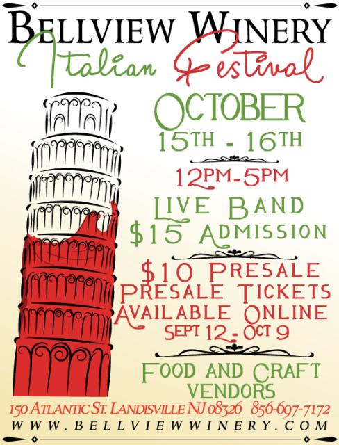 new jersey wine events - bellview italian