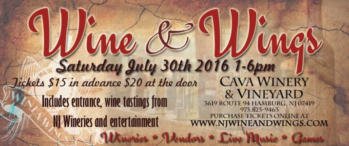 new jersey wine events -wine and wings