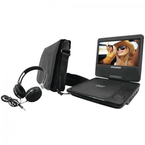 "The Sylvania® SDVD7060 7"" Swivel-Screen Portable DVD Player Bundle"