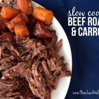 Slow cooker beef roast and carrots