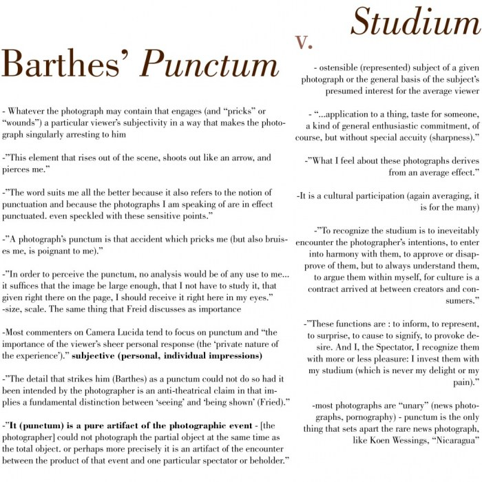 barthes-punctum-vs-studiumjpg (700×700) Flow Pinterest - sample talent release form