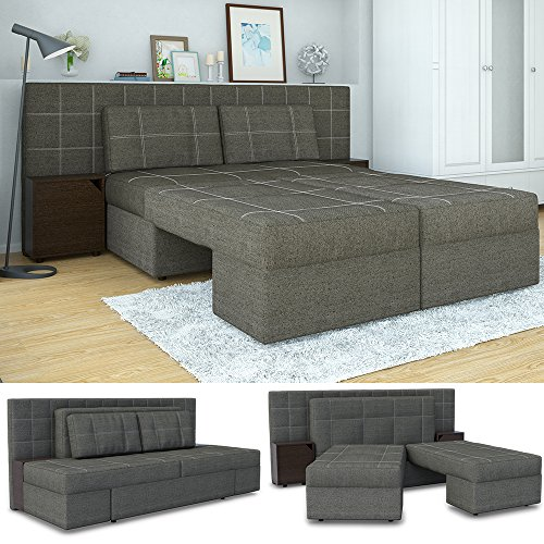 Vitalispa Innovatives Schlafsofa 230 X 105 Cm Grau Sofa