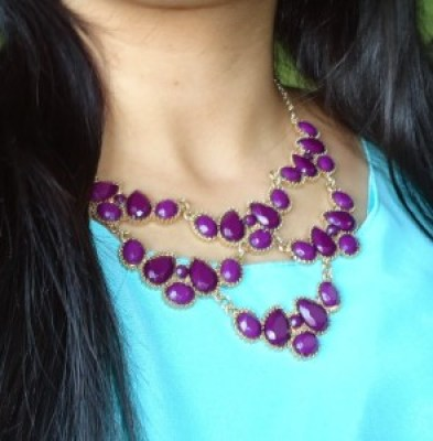 statement necklace, indian fashion blogger