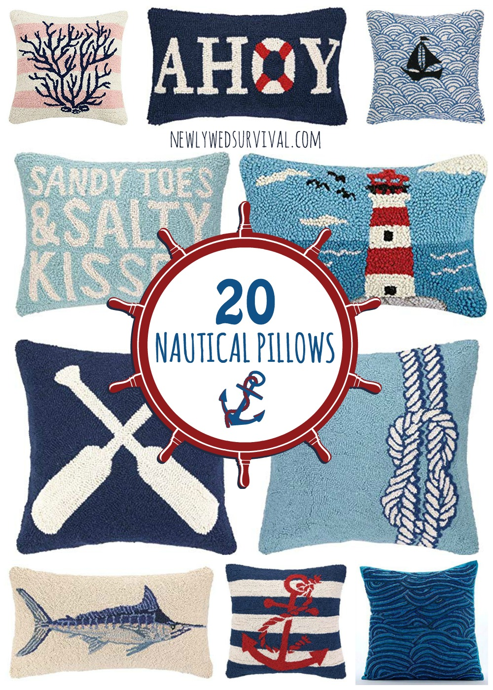 Nautical Sofa Throws 20 Nautical Throw Pillows Newlywed Survival