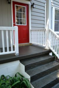 Painting a concrete porch - NewlyWoodwards