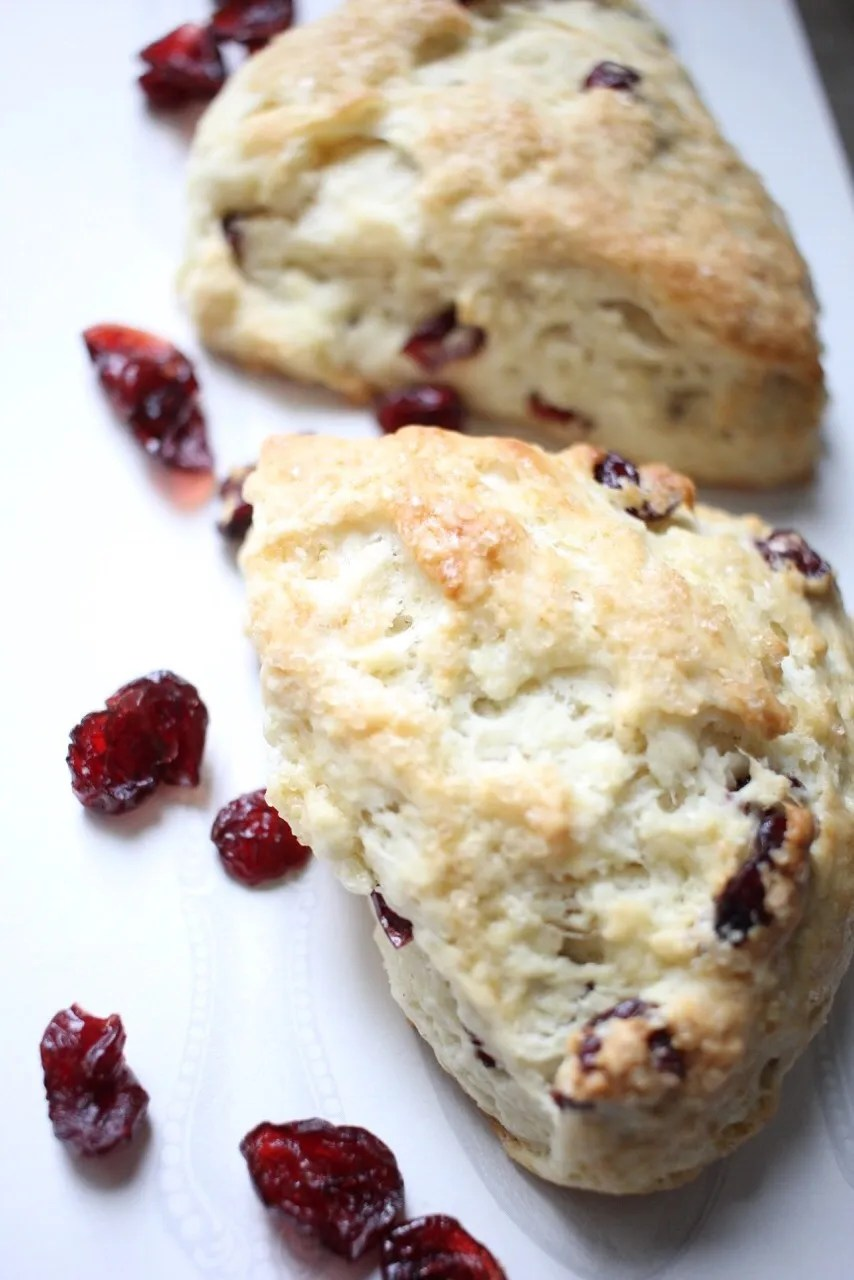 Dairy free recipe, Almond cranberry scone
