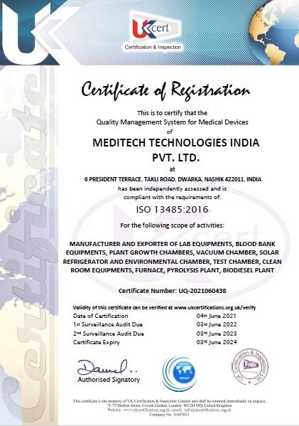 Certifications New Meditech