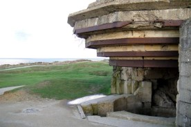 Concrete bunkers still stand all around Pointe du Hoc.