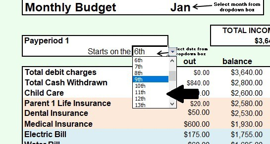 Best Excel Household Budget Template for Your Best Year Yet! - child care budget template