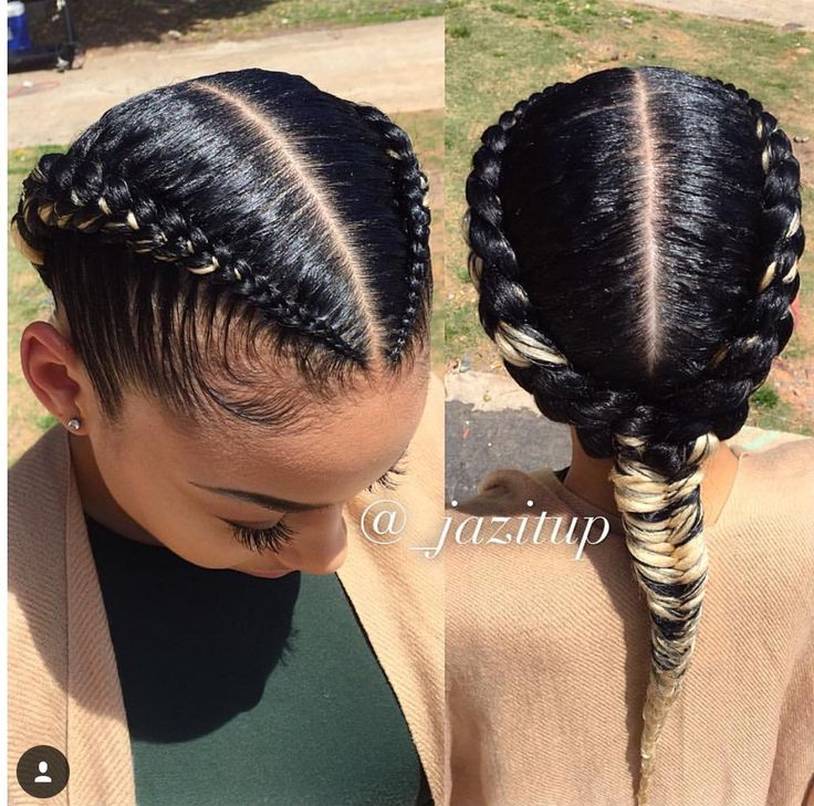 Medium Length Hairstyles Parted In The Middle 2 Goddess Braids With Weave New Natural Hairstyles