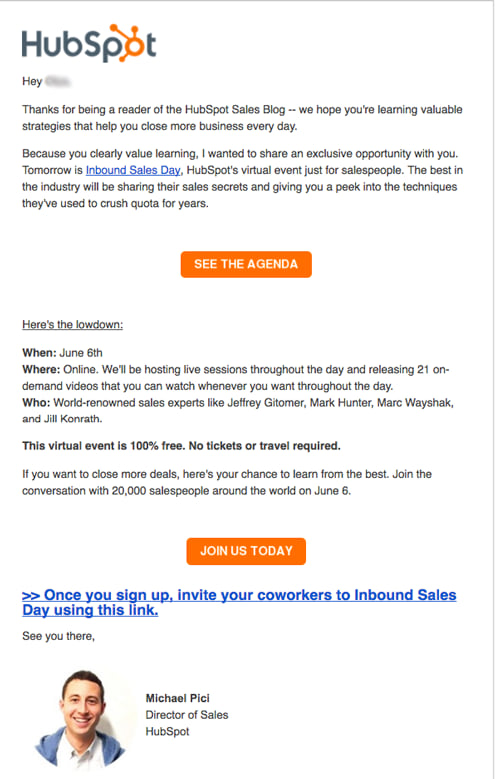 7 Real Examples of Event Invitation Emails - NEWOLDSTAMP