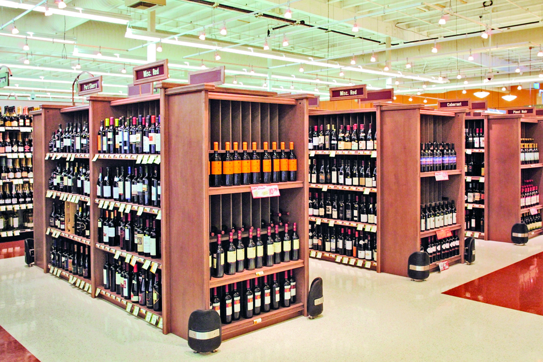 Store Shelving Wine And Liquor Wood Display Store Fixtures Newood Display Fixtures