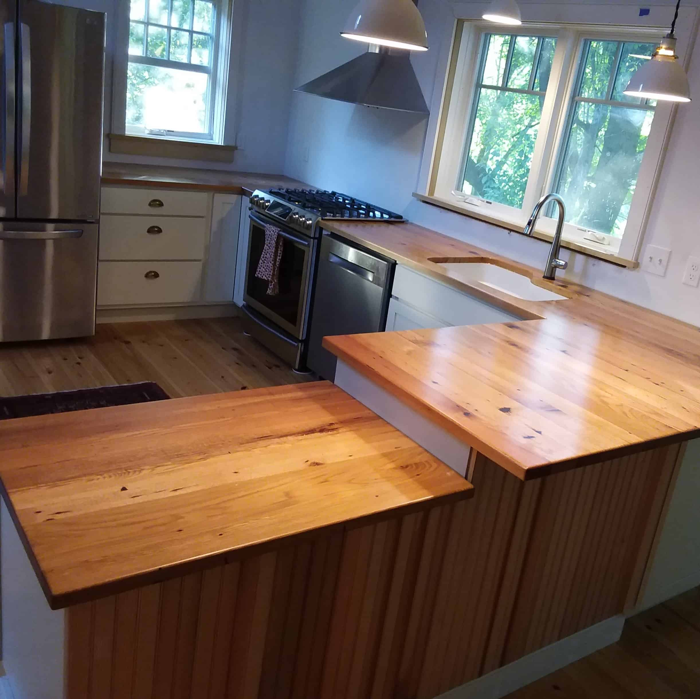 How To Waterproof Wood Countertop New England Wood Countertops 15 Years Of Custom Waterproof Tops