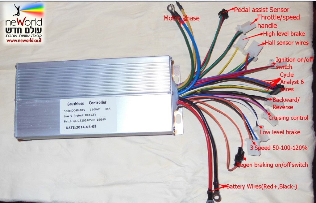 Wiring Diagram Furthermore 48v Electric Bike Controller Wiring