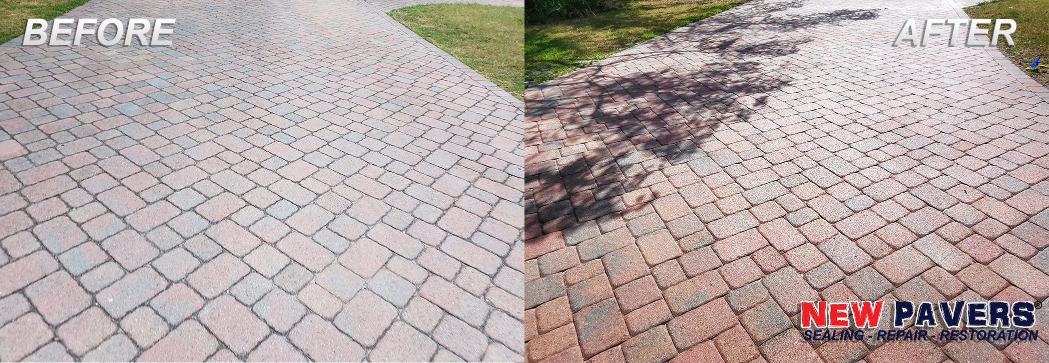 Before Amp After Paver Sealing Tampa Restoration