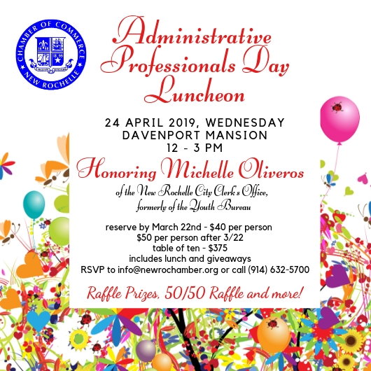 Administrative Professionals\u0027 Day Luncheon - New Rochelle Chamber of