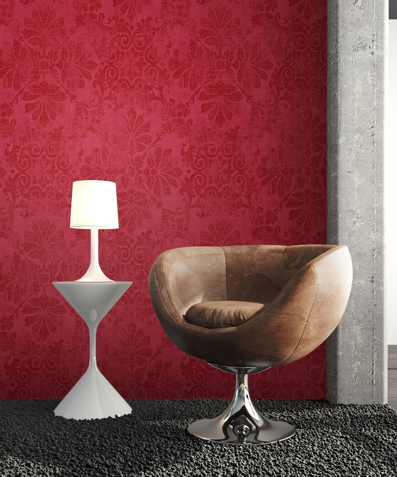 Retro Sessel Lila Rosso Rot - Muster 1