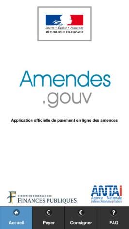 L'application amendes.gouv est disponible gratuitement sur itunes (AppStore)