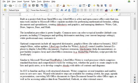 LibreOffice Writer Review