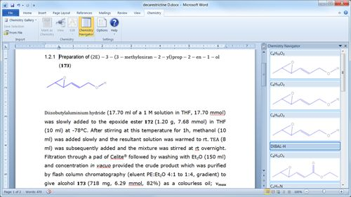 Download Free Chemistry Add-in for Office Word 2010 and 2007