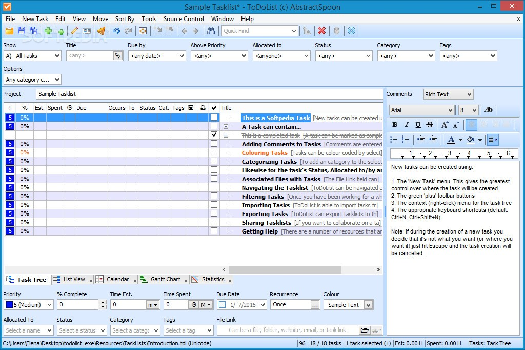 ToDoList Review \u2013 Advanced and Fully Customizable Notetaking Tool