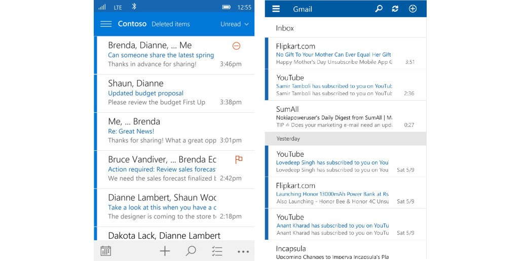 Windows 10 Mobile Has New Outlook Mail App with Nicer, Easier-to-Use UI