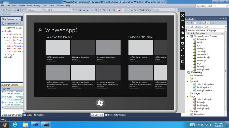 Windows 8 Developer Preview SDK, Visual Studio 11, Expression Blend