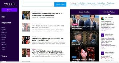 Yahoo Rolls Out New Home Page Design – Photos