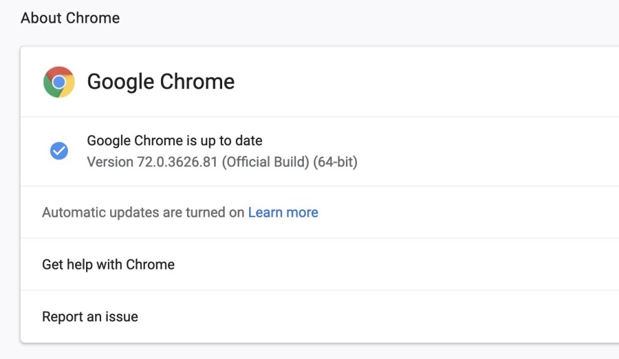 Google Chrome 72 released